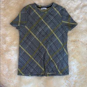 Zara Black / Yellow Plaid T Shirt
